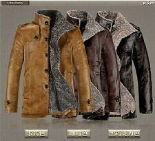 2014 NEW Style Winter Leather Sheep Skin Lamb Fur Trench Blazer man's Coat