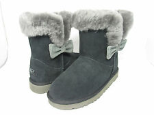 NEW KIDS UGG AUSTRALIA BOOT KOURTNEY BLACK GREY GRAY 1005398K ORIGINAL