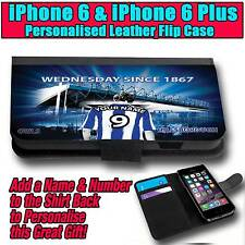 PERSONALISED SHEFFIELD WEDNESDAY UNOFFICIAL iPHONE 6 & 6 PLUS LEATHER FLIP CASE