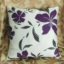 "Cushion Cover""Purple Floral and ""Thick Linen Cotton Blend ""Custom Made"" YF077-2"