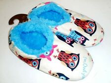 "Fuzzy Feet Soft Soled Slippers Size S/M or L/XL  Owl Design ""I'm Owl Yours"" NWT"