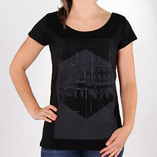 Bench Cameraobscura Top Black Damen T-Shirt Schwarz