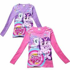 New My Little Pony Clothes 3Y-8Y Kids Girls Children T shirt Top Long Sleeve