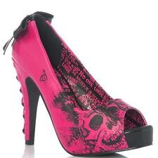IRON FIST AMERICAN NIGHTMARE PEEP-TOE PLATFORM SHOES HOT PINK (R7B)