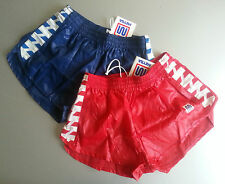 running athletic nylon LEG SPLIT  wet look shorts glanz shiny 80S retro vintage