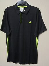 Adidas Climalite Sequencials Galaxy Polo Golf Tennis  Black L XL Nwt