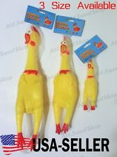 Pet Dogs Puppy Shrilling Rubber Chicken Chew Toy Sound Squeeze Screaming Toy