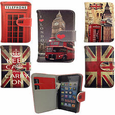 Vintage London Flip Leather Wallet Case Cover For Apple iPhone 6 6G