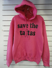 "Breast Cancer Awareness ""Save the Tatas"" Pullover Hoody Various Sizes"
