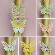12pcs Butterfly Napkin Ring Serviette Holder Banquet Wedding Dinner Decor Favor