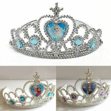 Frozen Cute Movie Elsa Costume Silver Princess Crown Tiara Non Slip Beautiful