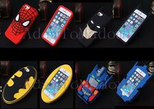 3D Kids Marvel Super Hero Cartoon Soft Silicone Gel Cover Case For iPhone Galaxy