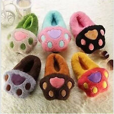 Animal PAWS Cotton Slippers SOFT Plush Slippers Winter Warm Indoor Shoes