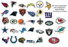 NFL Football Team Logo Stickers Choose from all available 32 teams!! brand new!