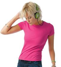 B&C Collection PC Fluorescent Neon Ladies Short Sleeved T-shirt Crew Neck Womens