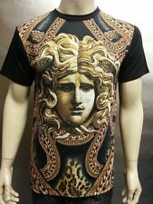 Medusa Head With Massive Chained Versace Looks Sublimation Men's T Shirts