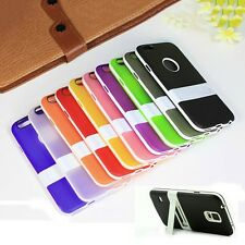 Ultra-thin Rubber Stand TPU Silicone Back Case Cover Skin for Phones