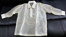 BARONG TAGALOG FOR BOYS PINA DESIGN SIZE 4 APPROXIMATELY FOR 3-4 YEARS OLD BOYS