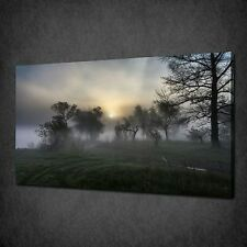 CONTRYSIDE ROAD FOGGY MORNING MODERN CANVAS PRINT PICTURE WALL ART FREE UK P&P