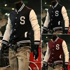 LA Location  2015 Mens Letterman Baseball Varsity Sports Coat Slim Fit Jacket