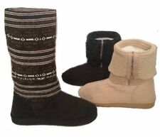 Girls Kids Youth Winter Casual Sweater Knit Tall Boots Slippers Zipper Slippers