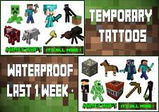 For Your MINECRAFT inspired party X10 temporary TATTOOS waterproof  LAST1WEEK+