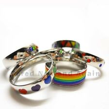 Stainless Steel Rainbow Ring - Choose from 6 Styles Crystals, Hearts & Bands