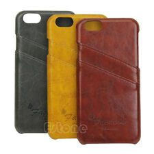 Luxury Hard Credit Card Back Case Cover holder PU Leather for iphone 6 4.7inch