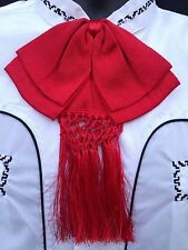 Mexican Charro and Mariachi Red Adult Bow Tie From Mexico.Moño Charro/Mariachi