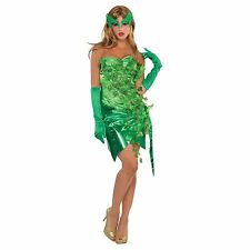 Poison Ivy Gotham Ladies Fancy Dress Villian Womens Halloween Adult Sexy Costume