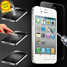 Premium Real Slim Tempered Glass Front&Back Film Screen Protector For iphone4 4S