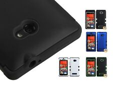 3 Piece Hard Case +Silicone Hybrid Protector Case TUFF for HTC Windows Phone 8X