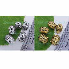 Solid Tibetan silver 3D Buddha Head Bracelet Connector Charms Spacer beads P308
