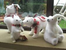 Christmas Snow Frosted Animal Decorations-Cute Polar Bear/Snow Squirrel/Hedgehog