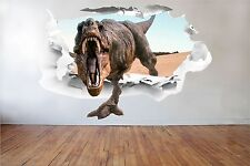 3D Dinosaur Full Colour T-Rex Wall Art Sticker Boys Decal Mural Graphic GA4-5