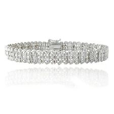 1.00ct TDW Diamond S Link Tennis Bracelet