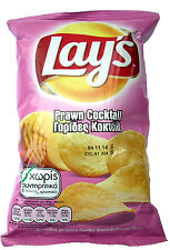 Lays Barbeque, Prawn Cocktail, Tomato Ketchup Potato Chips Crisps Snacks 6 packs