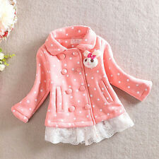 Baby Toddler Girls Long Sleeve Dot Ruffles Sweater Princess Coat Outerwear