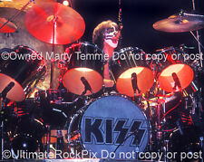 Peter Criss Photo Kiss 16x20 Poster Size 1970s Pearl Drums by Marty Temme 1A