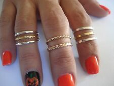 14K & 10K. SOLID GOLD OVER THE KNUCKLE BAND OR THUMB RING HANDMADE IN U.S.