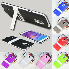 Back Case Cover W/Stand Shell Soft For Samsung Galaxy S4 S5 Note3 Note4