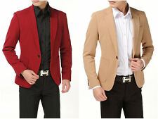 2014 Hot Sell  Fashion Men's Slim Casual One Button Suit Coat Jacket Blazers