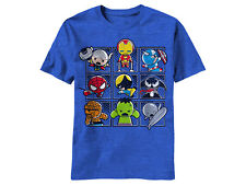Marvel Kawaii Daifuku Iron Man Hulk Thor Venom Adult Licensed T-Shirt - S-XXL