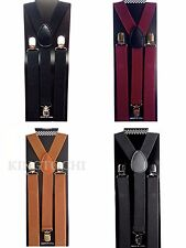 New Mens Womens Clip-on Suspenders Elastic Y-Shape Adjustable Braces