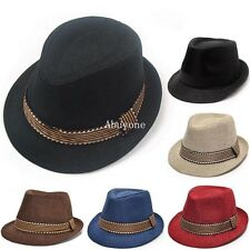 New Fashion Unisex Boys Girls Kids Cotton Fedora Trilby Jazz Hat Show Party