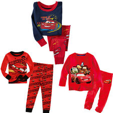 Cartoon Movies Cars 2 McQueen Kids Baby Boys Nightwear Pj's Sleepwear Clothes