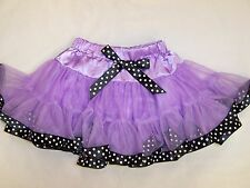 BNWT GIRLS PARTY TUTU SKIRT - SIZE 2 TO 7 RED, PURPLE & LIGHT PINK