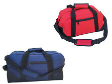 """Duffle Bag Two-Toned Sports Gym Travel Bag in Navy Blue/Black and Red/Black 21"""""""