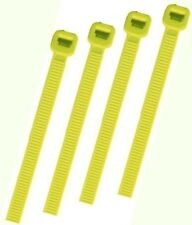 YELLOW PLASTIC CABLE TIES / WIRE TIES - ALL SIZES - HIGH QUALITY HEAVY DUTY TIES