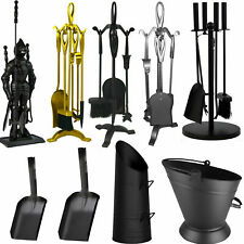 Great Value Fireplace Fireside Accessories Companion Sets Fire Cast Iron Black